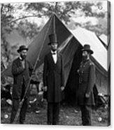 Lincoln With Allan Pinkerton - Battle Of Antietam - 1862 Acrylic Print