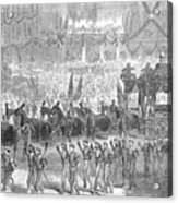 Lincolns Funeral, 1865 Acrylic Print