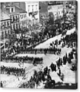 Lincolns Funeral Procession, 1865 Acrylic Print by Photo Researchers, Inc.