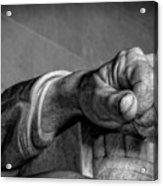 Lincoln's Left Hand B-w Acrylic Print