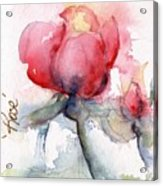 Linda's Rose Watercolor Acrylic Print