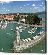 Lindau Bodensee Germany harbor panorama Acrylic Print
