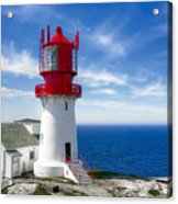 Lindesnes Lighthouse - Norway's Oldest Acrylic Print