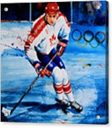 Lindros Acrylic Print by Hanne Lore Koehler