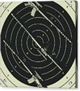 Line Art Rifle Range Acrylic Print