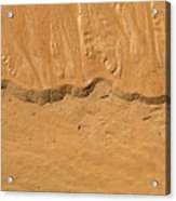 Line In The Sand Acrylic Print