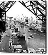 Line Of Victory Ships Acrylic Print