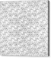 Linear Bulbs Pattern Whitesilver Black Acrylic Print