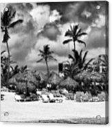 Lined Up At Punta Cana Acrylic Print by John Rizzuto