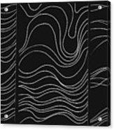 Lines 1-2-3 White On Black Acrylic Print
