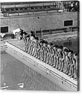 Lineup Of Ncaa Men Swimmers Acrylic Print