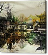 Lingering Garden Reflection Acrylic Print