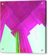 Linocln Column Pink Acrylic Print
