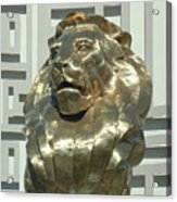 Lion At Mgm Acrylic Print