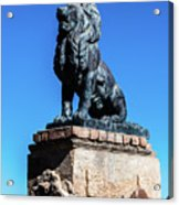 Lion At San Xavier Mission - Tucson Arizona Acrylic Print