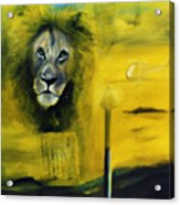 Lion at the council Acrylic Print