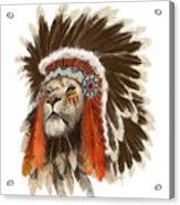 Lion Chief Acrylic Print
