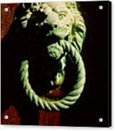 Lion Door Knocker In Venice Acrylic Print