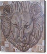 Lion Head Acrylic Print