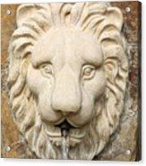 Lion Head Fountain Acrylic Print