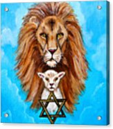 Lion Lies Down With A Lamb Acrylic Print