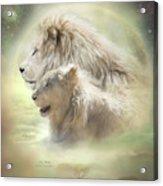 Lion Moon Acrylic Print