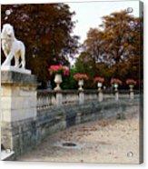Lion Sculptue Luxembourg Garden Paris France Acrylic Print