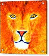 Lion Selfie Color Pop Acrylic Print