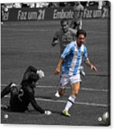 Lionel Messi The King Acrylic Print