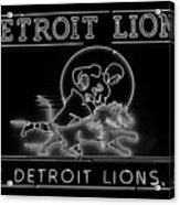 Lions Football Acrylic Print