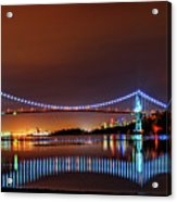 Lions Gate Bridge At Night 2 Acrylic Print