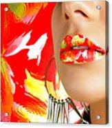 Lips Radiance Acrylic Print