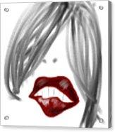 Lips Too Acrylic Print