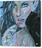 Lipstick And Leather Acrylic Print