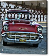 Lipstick Red At The Gate Acrylic Print