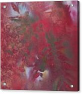Lipstick Red Illusion Acrylic Print