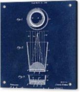 Liquershot Glass Patent 1925 Blue Acrylic Print