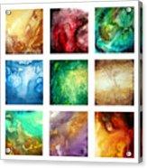 Liquid Color I By Madart Acrylic Print