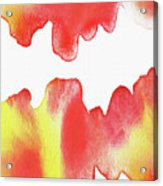 Liquid Fire Watercolor Abstract II Acrylic Print