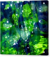 Liquid Leaves Acrylic Print