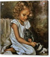Lisa With A Cat Acrylic Print