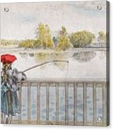 Lisbeth Angling. From A Home By Carl Larsson Acrylic Print