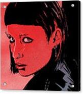 Lisbeth Salander Mara Rooney Acrylic Print by Giuseppe Cristiano