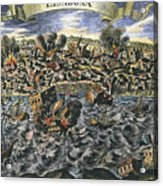 Lisbon Earthquake, 1755 Acrylic Print