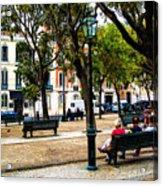 Lisbon High Park Acrylic Print
