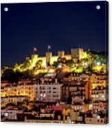 Lisbon Night Background Acrylic Print