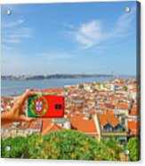 Lisbon Pictures Aerial Acrylic Print