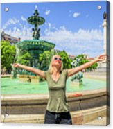 Lisbon Tourism Concept Acrylic Print