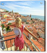 Lisbon Tourist Viewpoint Acrylic Print