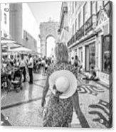 Lisbon Woman Lifestyle Acrylic Print